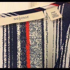 Sejour Tops - Sejour | Plus Size 20| Double Layer Blouse